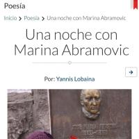 Marina   Abramović  en mi imaginario poético